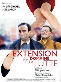 """כרזת הסרט """"הרחבת תחום המאבק"""" . במאי - פיליפ הארל (צרפת 1999)"""